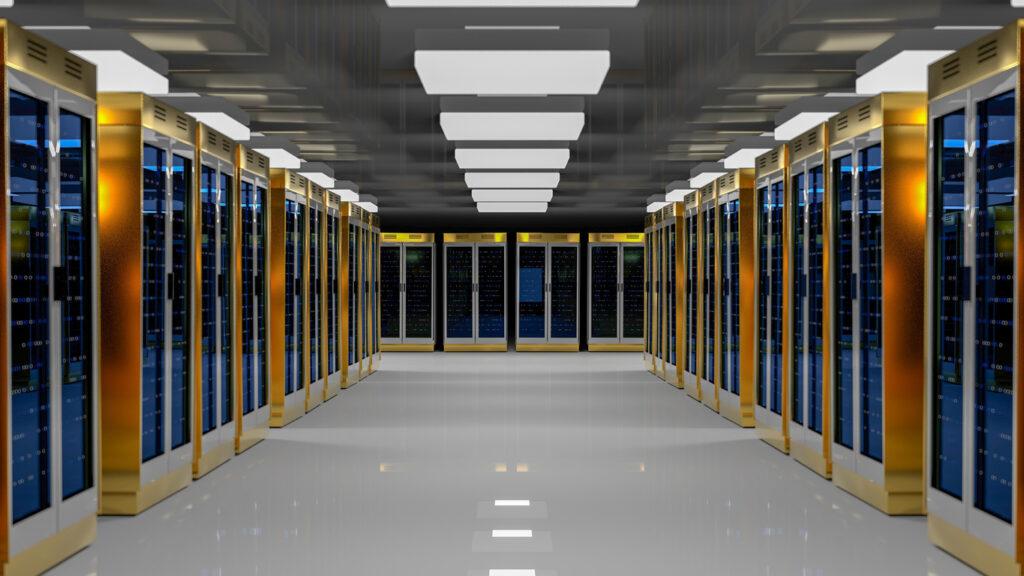 Server room data center.