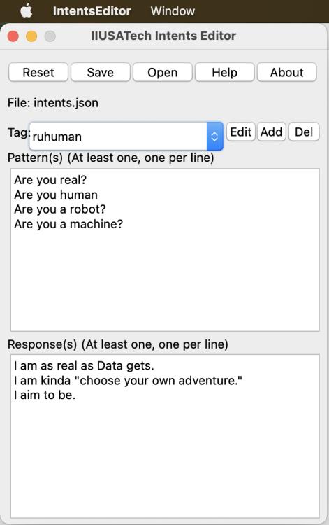 Intent Editor Screenshot